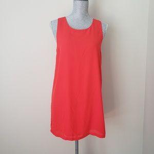 Forever 21 Red Sleeveless Shift Style Dress. S